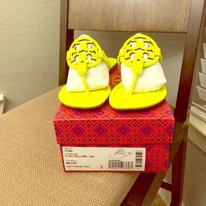 Tory Burch Fluo Yellow Miller Sandals